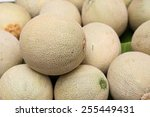Pile Of Cantaloupe Fruit For...
