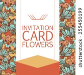 postcard with seamless flowers... | Shutterstock .eps vector #255450199
