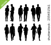 business man and woman... | Shutterstock .eps vector #255451561