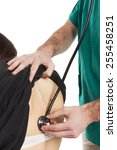 back medical auscultation with... | Shutterstock . vector #255458251