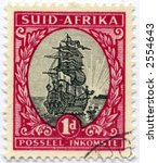 vintage postage stamp world ephemera africa - stock photo