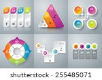 infographic design template can ... | Shutterstock .eps vector #255485071