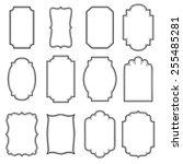 set of vertical vintage frames. | Shutterstock .eps vector #255485281