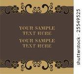vintage frame   Shutterstock .eps vector #25549525