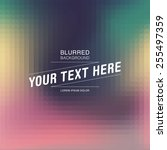 abstract elegant blurred... | Shutterstock .eps vector #255497359