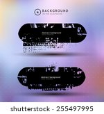 set of 2 black grunge banners... | Shutterstock .eps vector #255497995