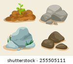 Soil And Stone Vector Set