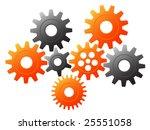 gears | Shutterstock .eps vector #25551058