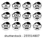 a set of black and white... | Shutterstock .eps vector #255514807