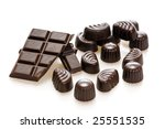 chocolate candy isolated on... | Shutterstock . vector #25551535