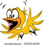 scared yellow bird   vector... | Shutterstock .eps vector #255515659