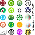 round best colored vector web ... | Shutterstock .eps vector #255518827