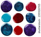 Blots Of Nail Polish Isolated...