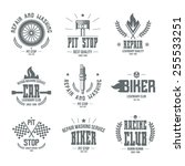 car races and service badges... | Shutterstock .eps vector #255533251