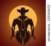 cowboy | Shutterstock .eps vector #255543625