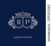 simple and elegant monogram...   Shutterstock .eps vector #255551365