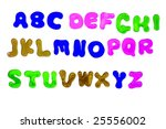 alphabet from a to z and... | Shutterstock . vector #25556002