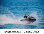 Young Man On Jet Ski  Tropical...