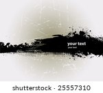 grunge banner with an inky...   Shutterstock .eps vector #25557310