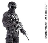 spec ops police officer swat in ... | Shutterstock . vector #255581317