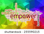 Empower Word Cloud Concept Wit...