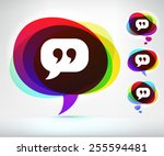 quotes and speech bubble on... | Shutterstock .eps vector #255594481