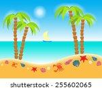 vector illustration cartoon... | Shutterstock .eps vector #255602065