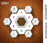 abstract 3d paper infographic | Shutterstock .eps vector #255606859