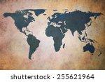 old world map   Shutterstock . vector #255621964