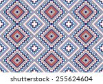 abstract ethnic geometric... | Shutterstock .eps vector #255624604