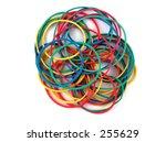 colored elastics | Shutterstock . vector #255629