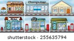 Stock vector different kind of shops 255635794