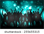 dancing people silhouettes | Shutterstock .eps vector #255655315