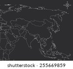 asia map   countries | Shutterstock .eps vector #255669859