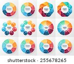 vector infographics set.... | Shutterstock .eps vector #255678265