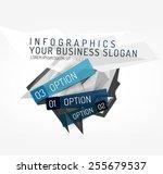 modern origami paper... | Shutterstock .eps vector #255679537