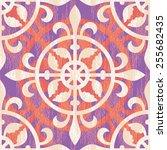 seamless medieval ornament...   Shutterstock .eps vector #255682435