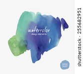 abstract vector watercolor... | Shutterstock .eps vector #255682951