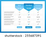 light pricing table with 3... | Shutterstock .eps vector #255687391