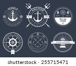 set of nautical logos  badges... | Shutterstock .eps vector #255715471
