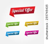 special offer labels | Shutterstock .eps vector #255745435
