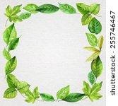 square frame made of various...   Shutterstock .eps vector #255746467