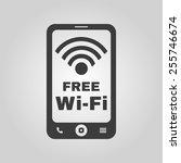 the wifi icon. free wifi symbol.... | Shutterstock .eps vector #255746674