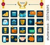 bank collection  finance set ... | Shutterstock .eps vector #255765691