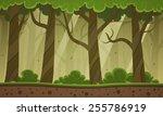 forest cartoon background | Shutterstock .eps vector #255786919