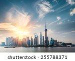 shanghai in sunny morning   ...   Shutterstock . vector #255788371