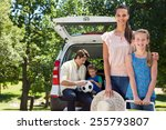 happy family getting ready for... | Shutterstock . vector #255793807