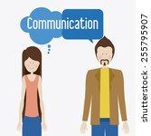communicate  talk  desing over  ... | Shutterstock .eps vector #255795907