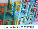 Painted Wooden Terrace Chairs...