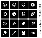 vector black sport icon set on... | Shutterstock .eps vector #255807031